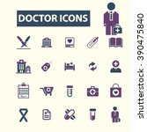 doctor icons  | Shutterstock .eps vector #390475840