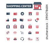 shopping center icons  | Shutterstock .eps vector #390478684