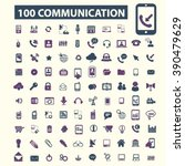 communication icons  | Shutterstock .eps vector #390479629