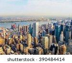 new york city manhattan skyline ... | Shutterstock . vector #390484414