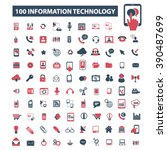 information technology icons  | Shutterstock .eps vector #390487699