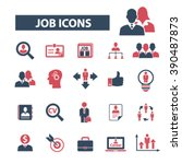 job icons  | Shutterstock .eps vector #390487873