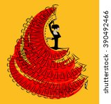red yellow image of flamenco... | Shutterstock .eps vector #390492466