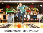 Small photo of Bowling with a couple of friends in a bowling alley is good fun, and a great idea for a night out