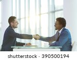 business partners in office | Shutterstock . vector #390500194