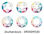 circular infographics step by... | Shutterstock .eps vector #390509530