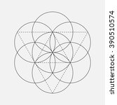 flower of life sign. vector... | Shutterstock .eps vector #390510574