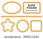 different frame ropes. top view.... | Shutterstock .eps vector #390511354