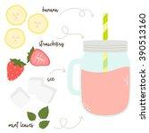 vector illustration of summer... | Shutterstock .eps vector #390513160
