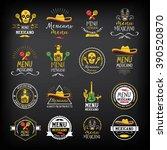 mexican food menu restaurant... | Shutterstock .eps vector #390520870
