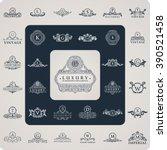 luxury logo monogram. vintage... | Shutterstock .eps vector #390521458