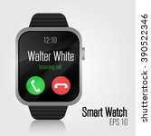 smart watch black. vector...
