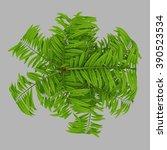 isolated 3d rendered bonsai... | Shutterstock . vector #390523534