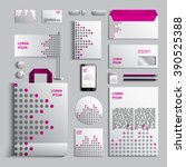 corporate identity template in... | Shutterstock .eps vector #390525388