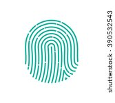 id app icon fingerprint vector... | Shutterstock .eps vector #390532543