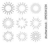 hand drawn sunbursts  vector... | Shutterstock .eps vector #390534154