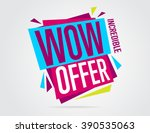 special offer sale tag discount ... | Shutterstock .eps vector #390535063