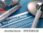 hepatitis c virus   medical... | Shutterstock . vector #390538528
