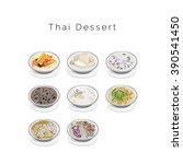thai dessert | Shutterstock .eps vector #390541450