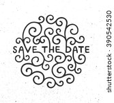save the date invite card... | Shutterstock .eps vector #390542530