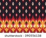geometric ethnic oriental ikat... | Shutterstock .eps vector #390556138