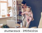 it is not easy to be a working... | Shutterstock . vector #390561016