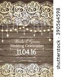 wedding invitation card.... | Shutterstock .eps vector #390564598