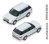 off road write car. modern vip... | Shutterstock .eps vector #390565834