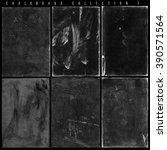 old slate chalkboards... | Shutterstock . vector #390571564