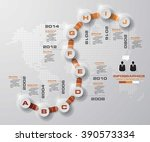 timeline infographic10 steps... | Shutterstock .eps vector #390573334