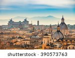 View of rome from castel sant...