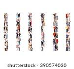 corporate teamwork team over... | Shutterstock . vector #390574030