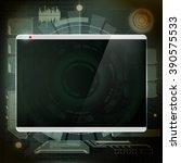 futuristic design the screen....