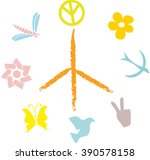 abstract peace symbol on a...   Shutterstock .eps vector #390578158