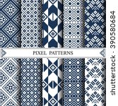 thai pixel pattern  thai... | Shutterstock .eps vector #390580684