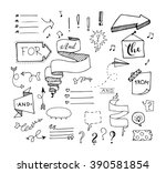 Vector Hand Drawn Set On White...