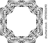 vintage baroque frame scroll... | Shutterstock .eps vector #390583690