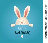 happy easter greeting card... | Shutterstock .eps vector #390585649