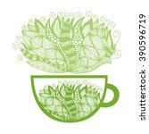 green tea vector illustration   Shutterstock .eps vector #390596719