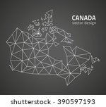 canada outline map | Shutterstock .eps vector #390597193