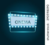 cool retro cinema sign. eps10... | Shutterstock .eps vector #390598090