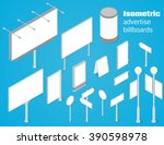 isometric advertise billboards... | Shutterstock .eps vector #390598978