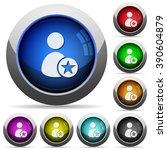 set of round glossy rank user...