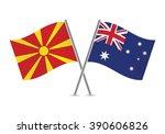 macedonian and australian flags....
