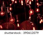 red light blub | Shutterstock . vector #390612079