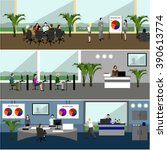 flat design of business people...   Shutterstock . vector #390613774