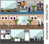 flat design of business people... | Shutterstock . vector #390613786