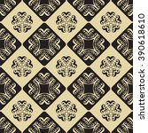 seamless ornament pattern... | Shutterstock .eps vector #390618610