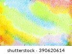 watercolor background  summer   Shutterstock . vector #390620614