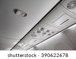 italy  airplane cabin with the... | Shutterstock . vector #390622678